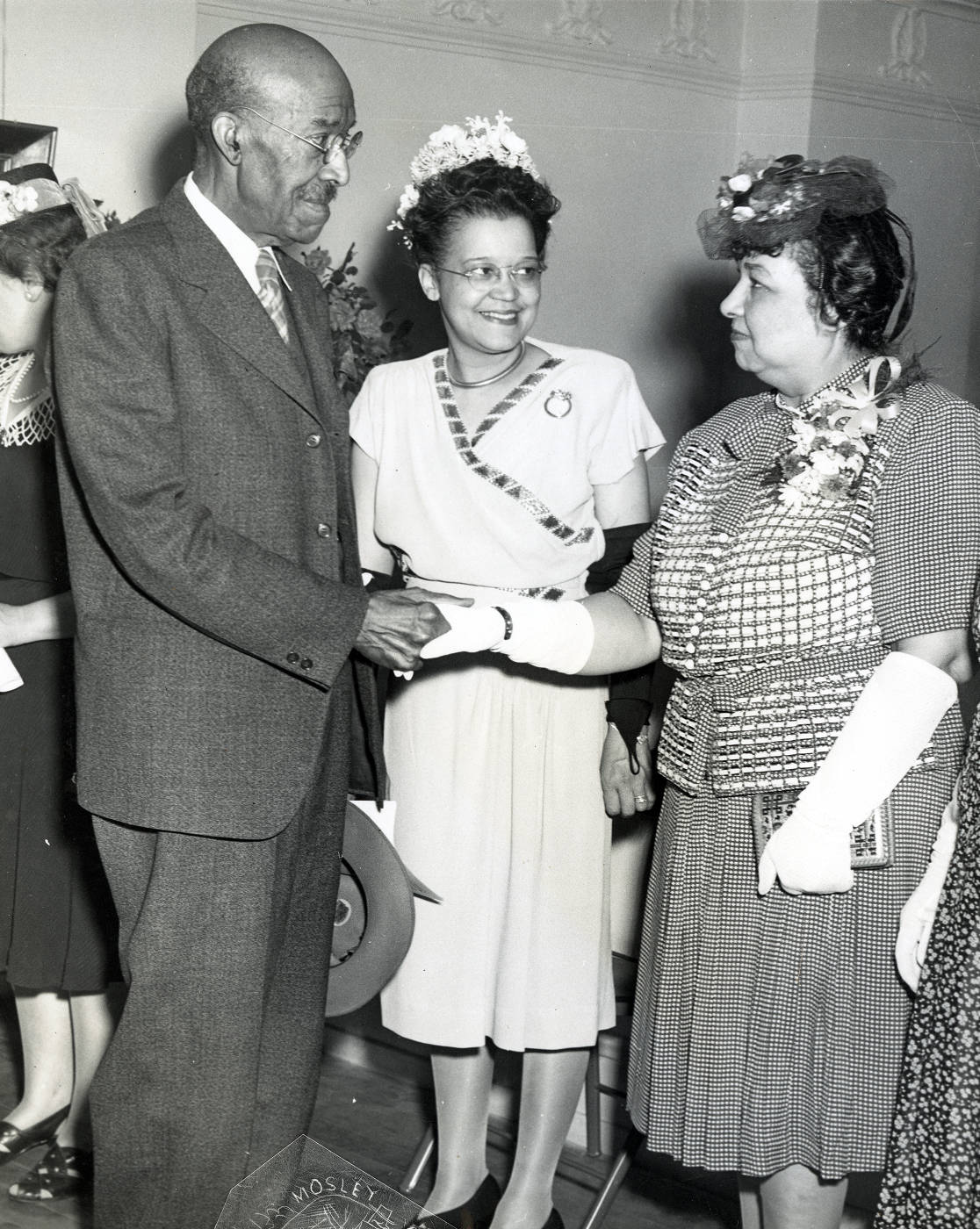 Laura Wheeler Waring with Dr. Nathan F. Mossell and Sadie T.M. Alexander